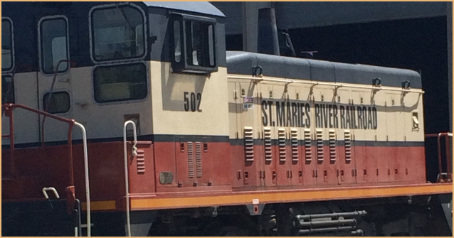 STMA unit 502 at the Saint Maries River Rarlroad Locomotive shop
