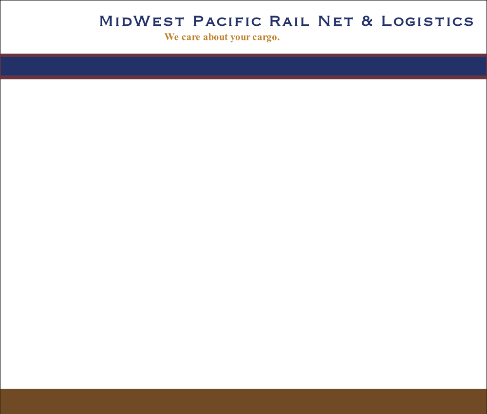 Midwest Pacific Rail Net & Logistics | We care About Your Cargo
